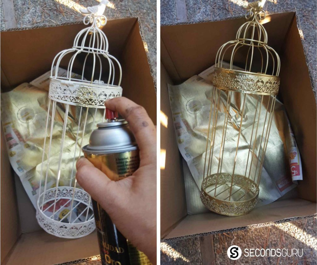 Gilding an old iron cage