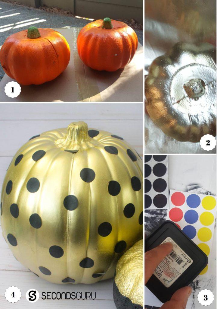 Plastic pumpkin makeover
