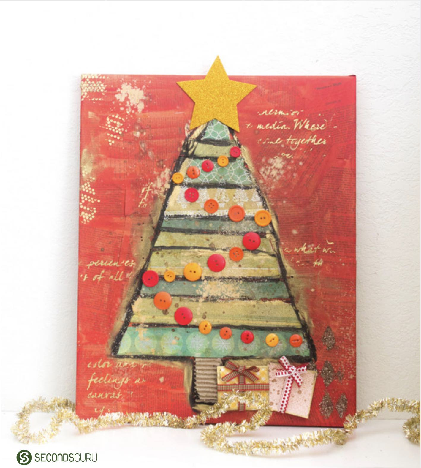 Christmas tree on canvas