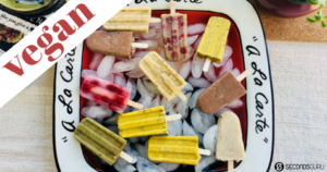 vegan healthy non-dairy dessert popsicles