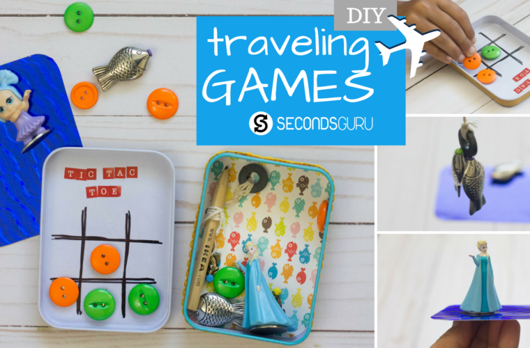 upcycle to create games for flights and travel