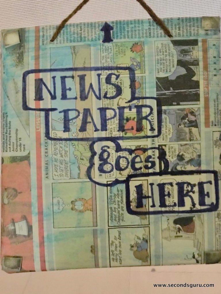 NewsPaper Basket upcycled cereal box secondsguru
