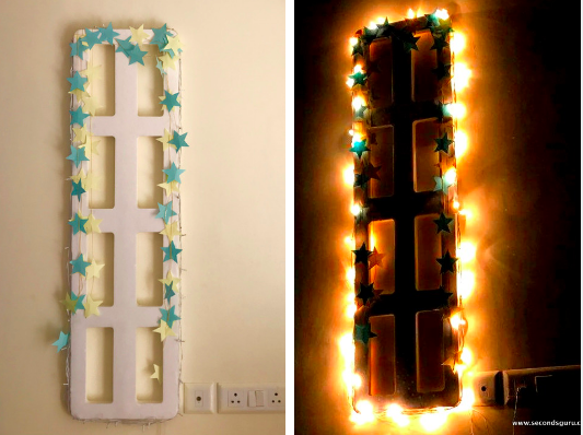 styrofoam upcycled wall decor