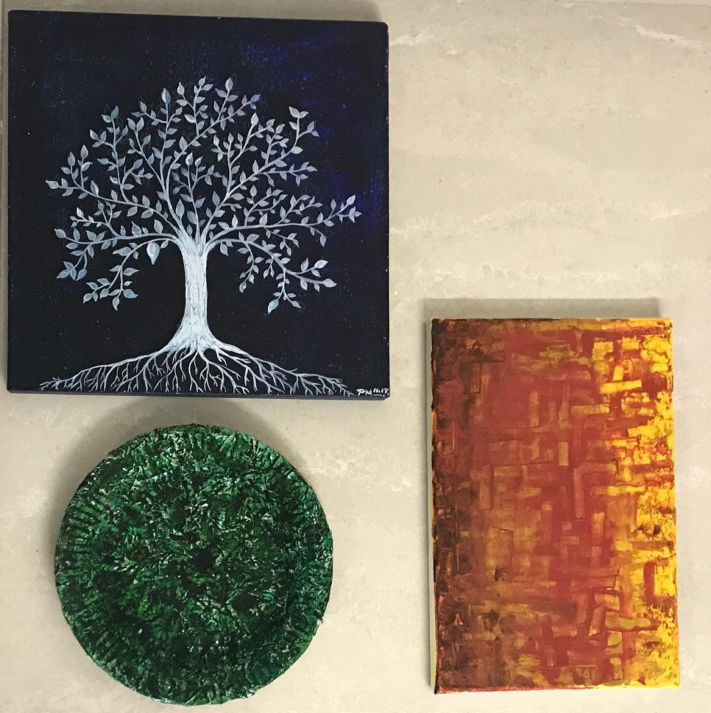 hand made painting for eco friendly home decor