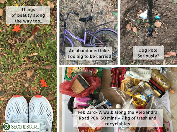 plogging in singapore trash and recyclables alexandra park connector network singapore