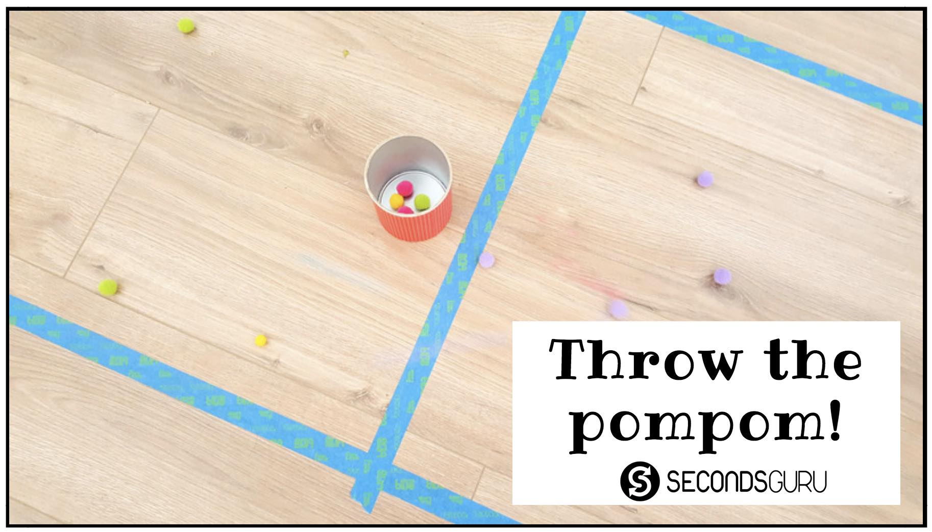 minute to win it pompom kids game