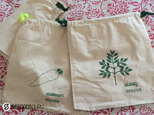 hand made Fabric bags for grocery