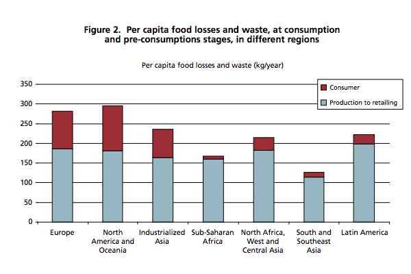 food wastage global Food agricultural organisation fao