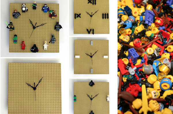 diy lego wall clock
