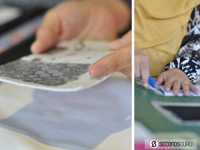 Work-in-progress: Hand crafted designs created by Nasyitah and team