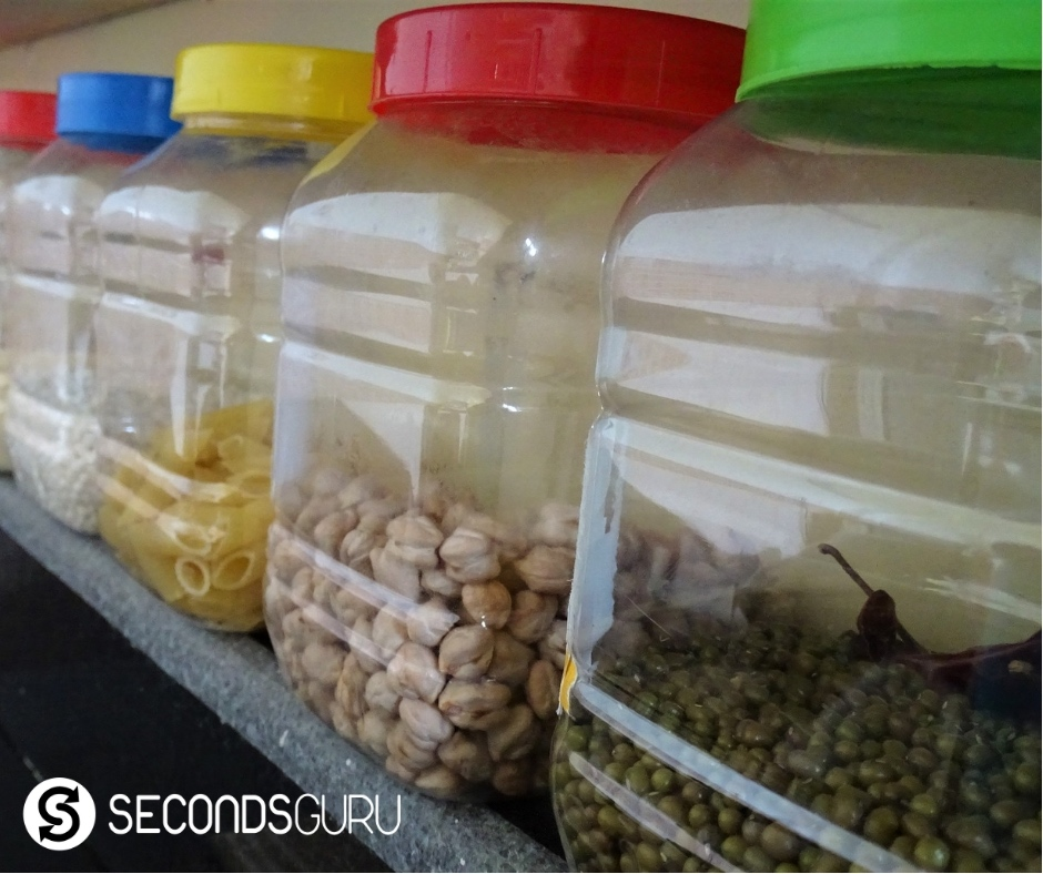 Plastic snack containers get reused to store pulses and more