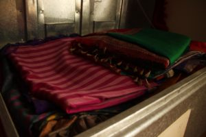 Traditional way to store saris