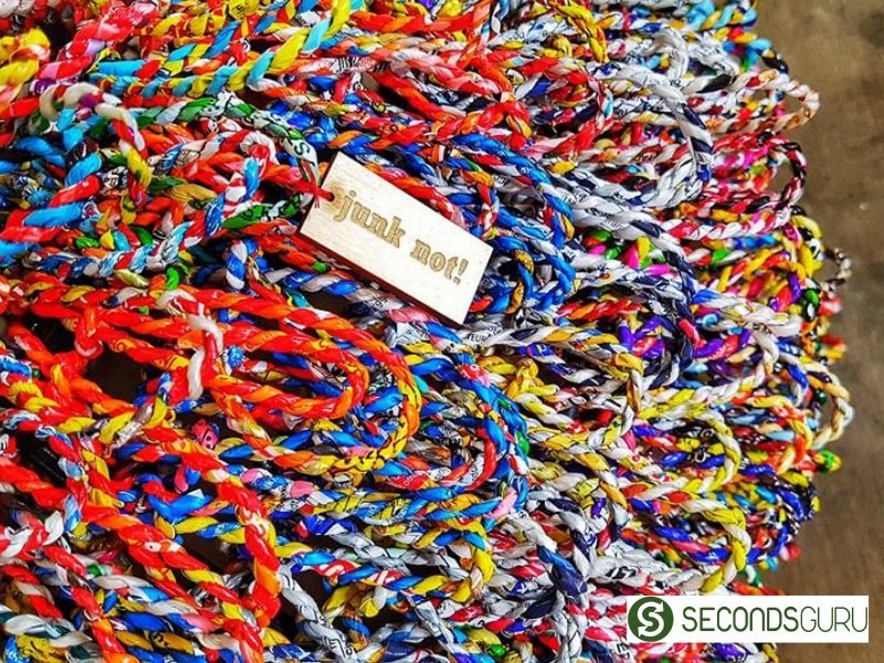 Twine made out of Plastic waste
