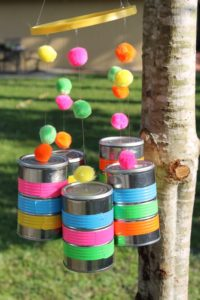 Wind Chimes using Tin Cans