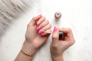 Nail polish contains harmful chemicals