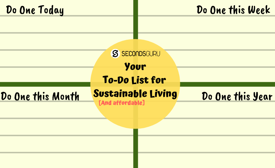 To Do List secondsguru sustainable green living