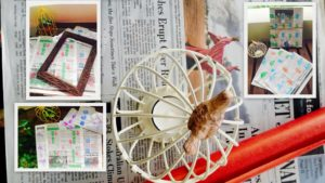 Paper Crafts newspaper bag and wrapping paper