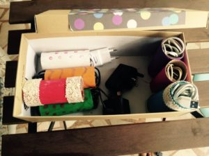 toilet roll craft wire organiser