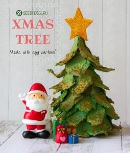 Egg Carton Craft Xmas Tree