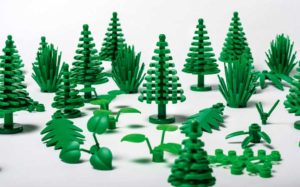 Lego bioplastic elements