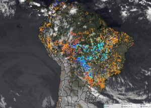 Active Fires in Amazon Forest at seen by Satellite