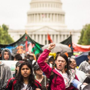 Youth Climate march in Washington DC