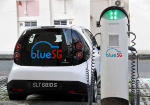 Electric vehicle car sharing service