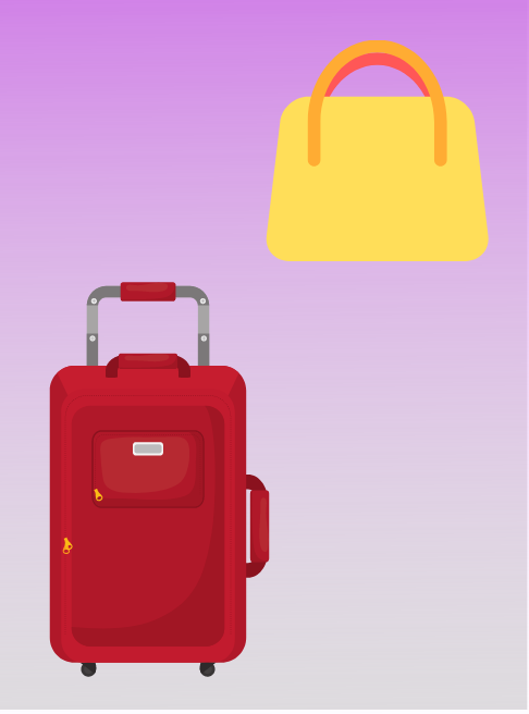 suitcases, travel bags, handbags