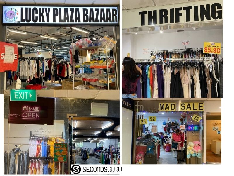 Thrift shopping Lucky Plaza
