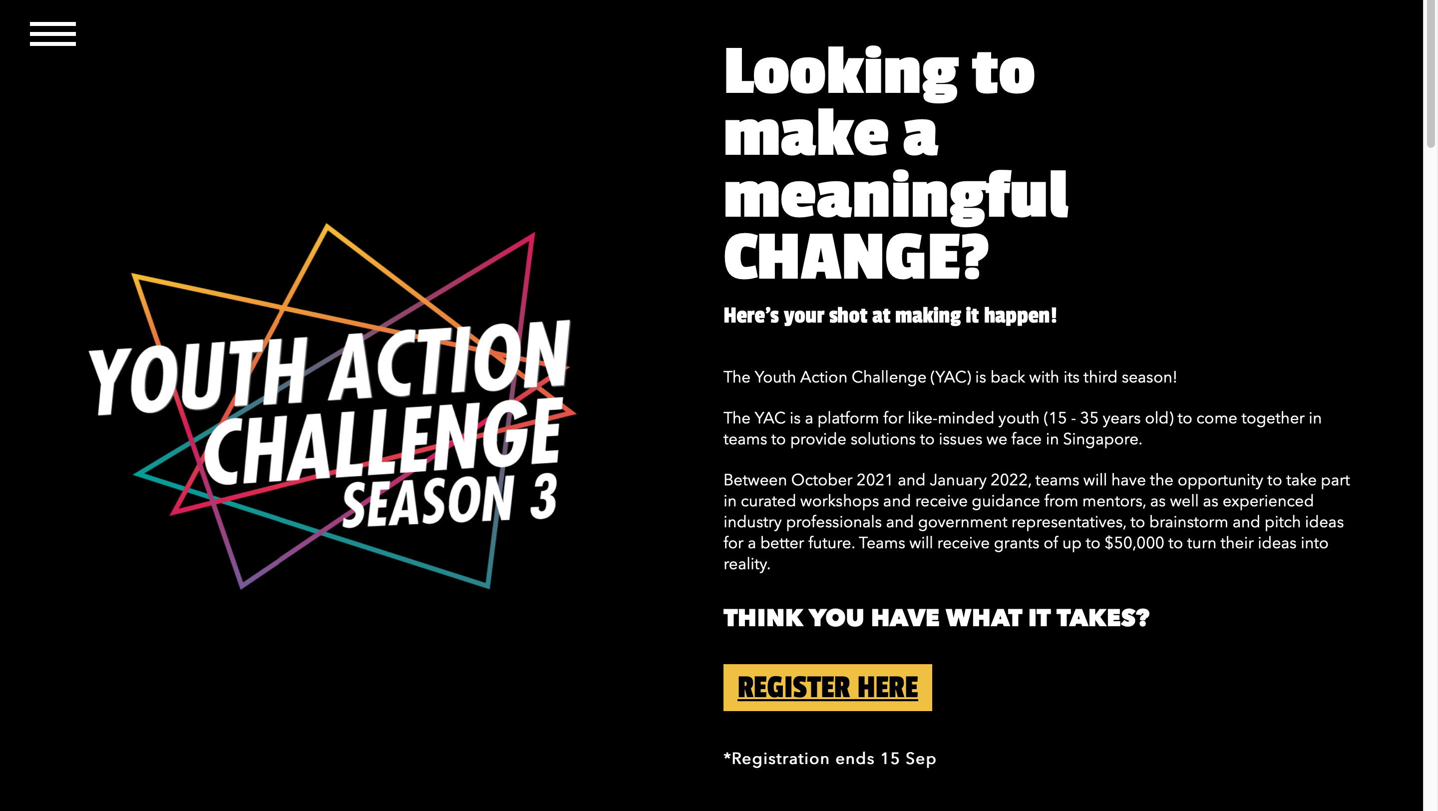 Youth action challenge